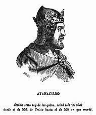 Reino visigodo de Toledo con Atanagildo(555 - 567 )