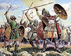 Batalla de vouillé contra los francos (507 )