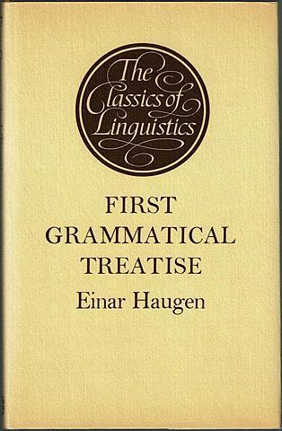 The first grammatical treatise. Twelfth century