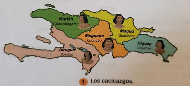 División de la isla antes de los españoles.
