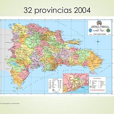 División territorial de la isla de Santo Domingo. timeline