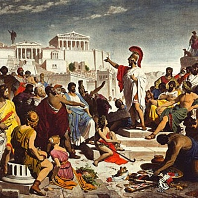 O nascimento da democracia na Grécia Antiga  timeline