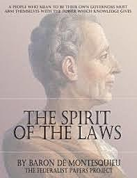 Montesquieu writes the Spirit of laws