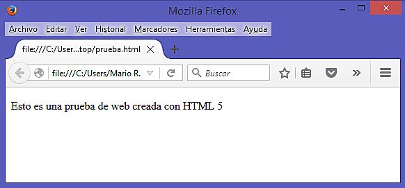 Primer Documento en HTML.