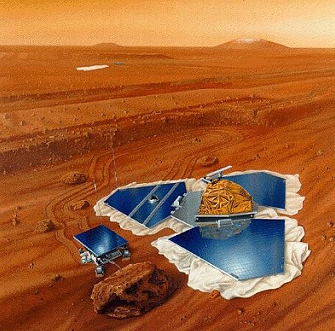 Pathfinder Lander y microrover Sojourner