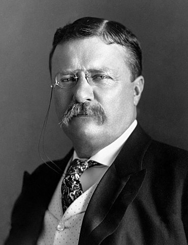 Teddy Roosevelt Becomes President of the United States.