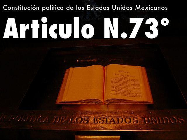 Art. 73 Constitucional