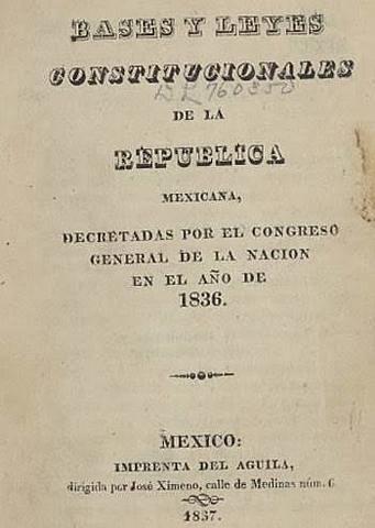 Santa Anna centralista publico las 7 leyes