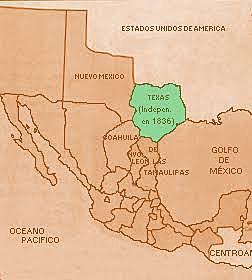 México y provincia de Texas jurídicamente pertenecen a parte de Coahuila