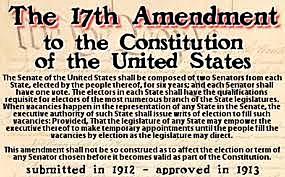 17th Amendment Ratified
