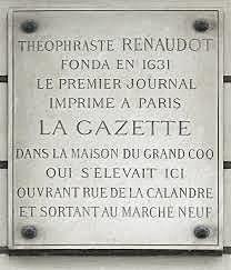 La primera gaceta en Francia