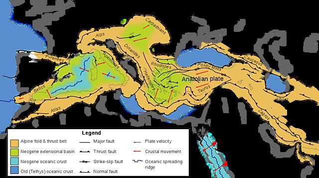 Alpine orogeny begins