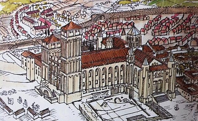 empieza la construcción de la catedral de Santiago de Compostela