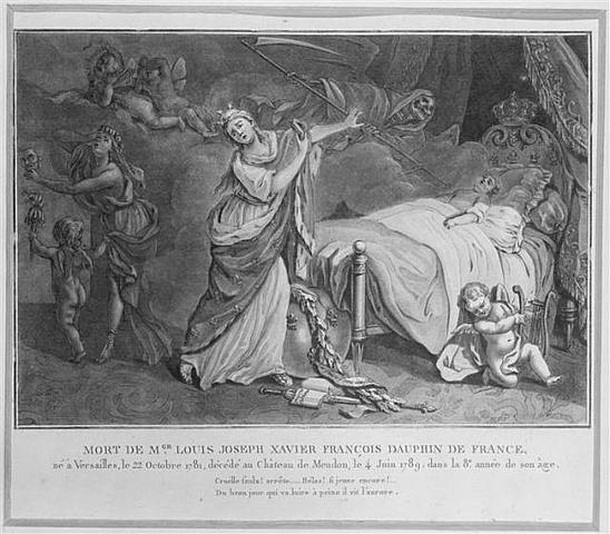 Death of oldest son, Louis Joseph Xavier.