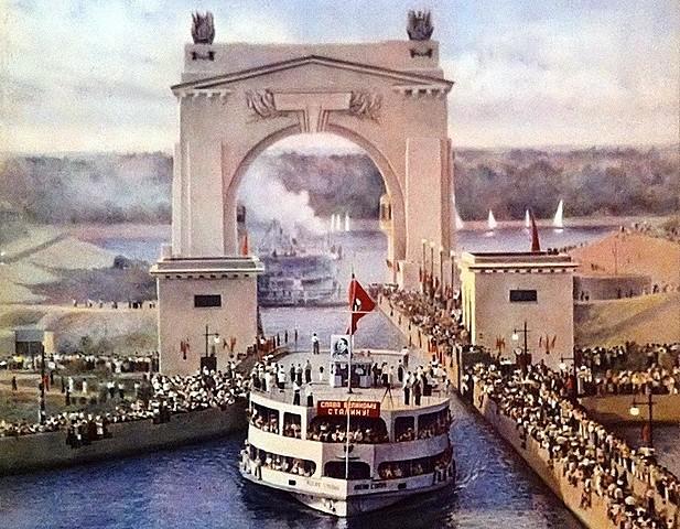 Открытие судоходного канала