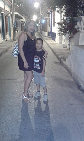 in Cartagena with my mom