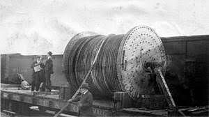 Comienzo instalación primer cable telefónico transatlántico
