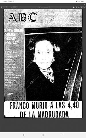 Muerte de Franco.