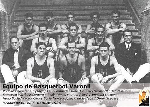 Primera medalla de bronce del basquetbol mexicano en los Juegos Olímpicos de Berlín