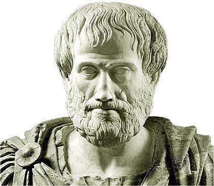 Aristóteles postula que la materia estaba formada por 4 elementos