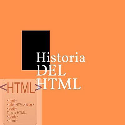 La Historia del HTML timeline