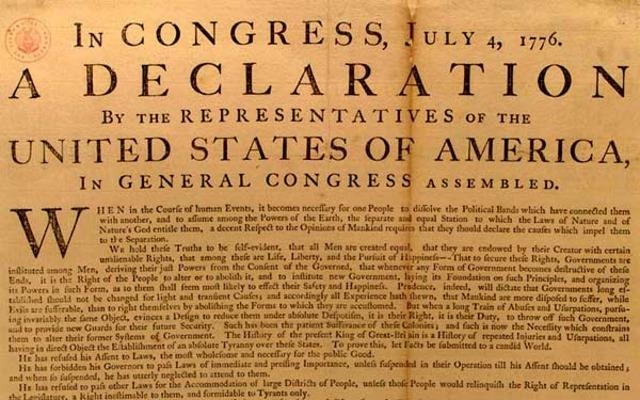 DECLARACION DE INDEPENDENCIA EEUU