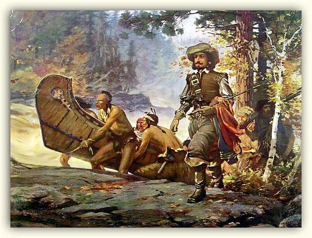 Samuel de Champlain founds Quebec.
