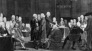 Parliament passes the Coercive Acts; colonists hold First Continental Congress.