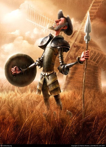 Don Quijote y Rocinante su caballo