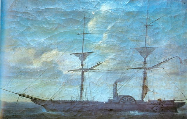 """El primer buque militar a vapor del Perú y de Sudamérica, """"El Rimac"""""""