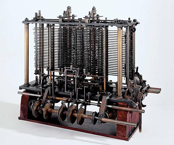 O matemático Charles Babbage e a maquina de cálculos a vapor.