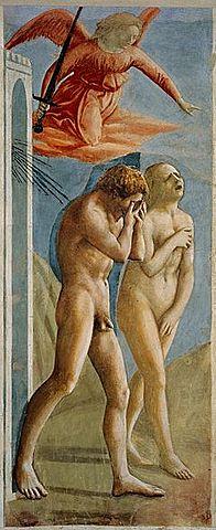 La expulsión de Adán y Eva del Paraíso terrenal (1425 - Masaccio)