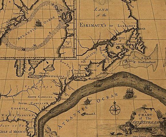 Карта Гольфстрима