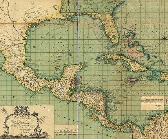 Общая карта Вест-Индии: С дополнительными сведениями последних морских путешествий
