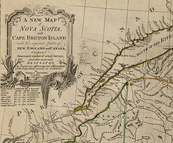 Новая карта Новой Шотландии и острова Кейп-Бретон