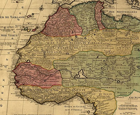 Карта Барбари, Нигриции и Гвинеи