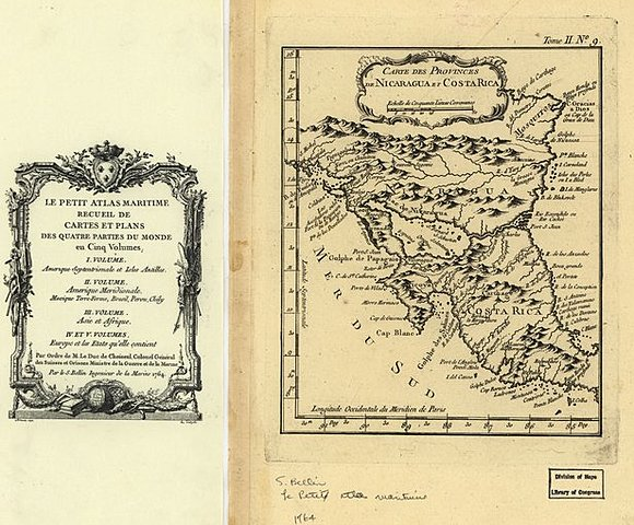 Карта провинций Никарагуа и Коста-Рики