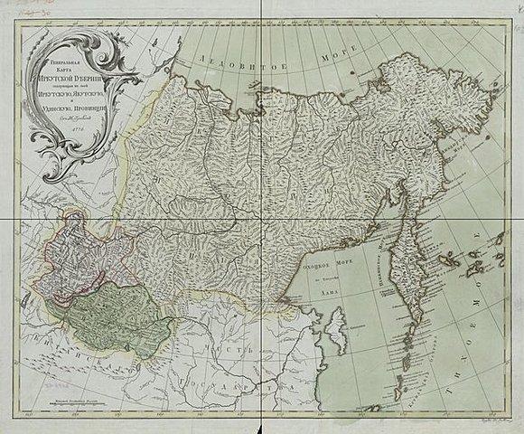 Общая карта Иркутской губернии