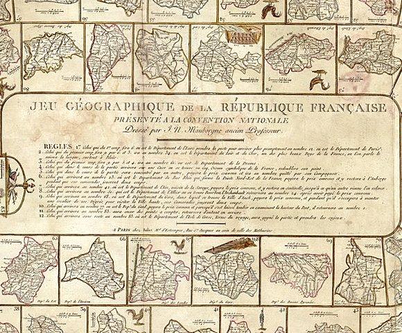 Географическая игра Французской республики