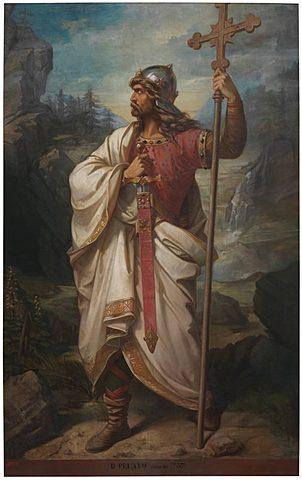 Pelayo funda el Reino de Asturias