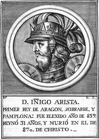 Iñigo Arista proclamado Rey de Pamplona