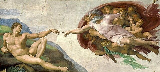 La creación de Adán (Miguel Ángel - 1508)