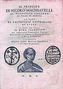 El Princípe - (Nicolás Maquiavelo - 1513 - Literatura del cinquecento)
