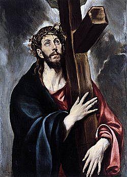 Cristo abrazado a la cruz - (El Greco - 1580)