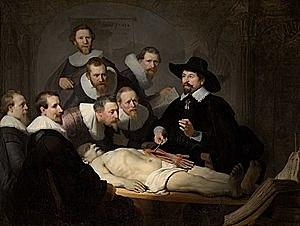 La lección de anatomía del Dr. Nicolaes Tulp (Rembrandt - 1632)