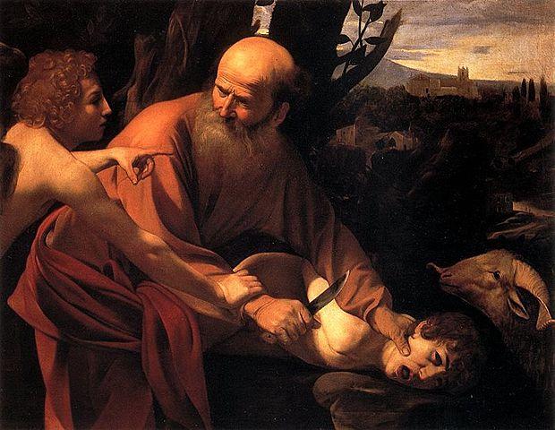 El sacrificio de Isaac (Caravaggio - 1601/2)