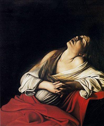El éxtasis de la Magdalena (Caravaggio - 1606)