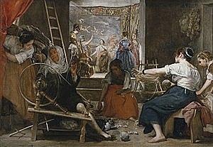 Las hilanderas (Diego Velázquez - 1658)