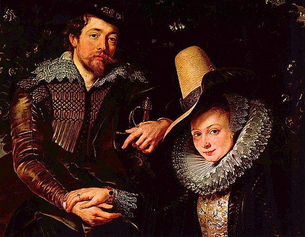 Autorretrato con su esposa Isabel Brant (Rubens - 1610)