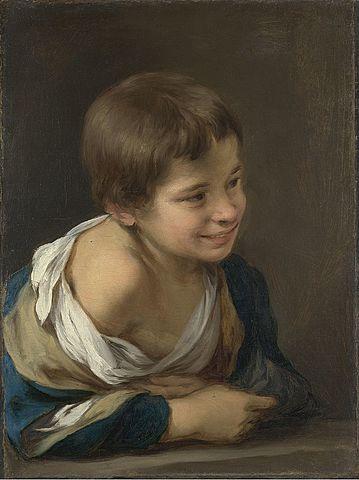 Niño riendo asomado a la ventana (Murillo - 1675)